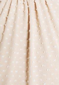 Closet - HIGH COLLAR MINI DRESS - Day dress - beige - 6