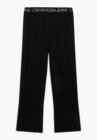 Calvin Klein Jeans - LOGO WAISTBAND - Trousers - black - 0