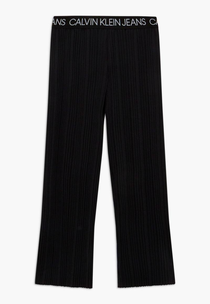 Calvin Klein Jeans - LOGO WAISTBAND - Trousers - black