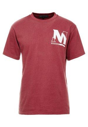 VOID CUTTER TEE - T-shirt imprimé - burgundy
