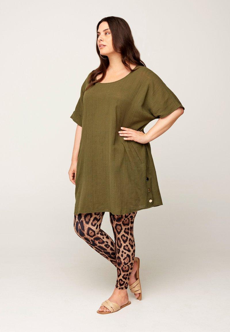 Zizzi - Leggings - Trousers - brown