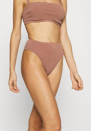 SEA DIVE HIGH RISE - Bikini bottoms - bronze