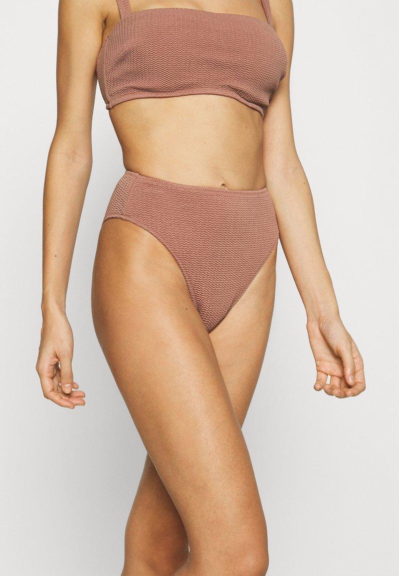 Seafolly - SEA DIVE HIGH RISE - Bikini bottoms - bronze
