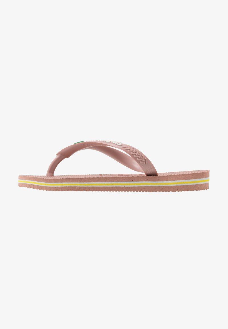 Havaianas - SLIM BRASIL LOGO - Pool shoes - crocus rose