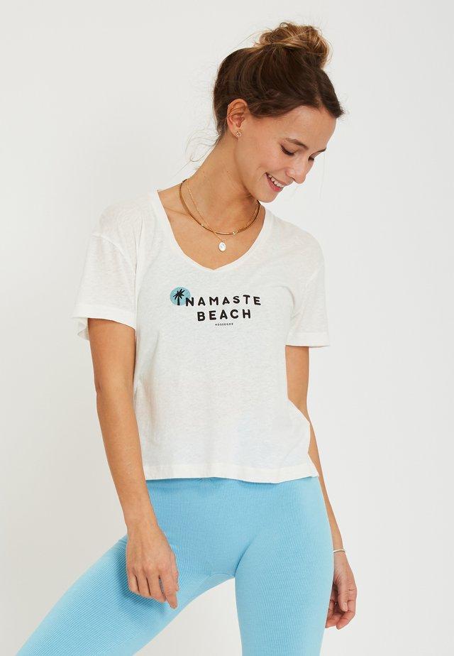 BEACH - T-shirt imprimé - white