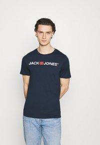 Jack & Jones - JJECORP LOGO TEE CREW NECK 3 PACK - Print T-shirt - white - 4