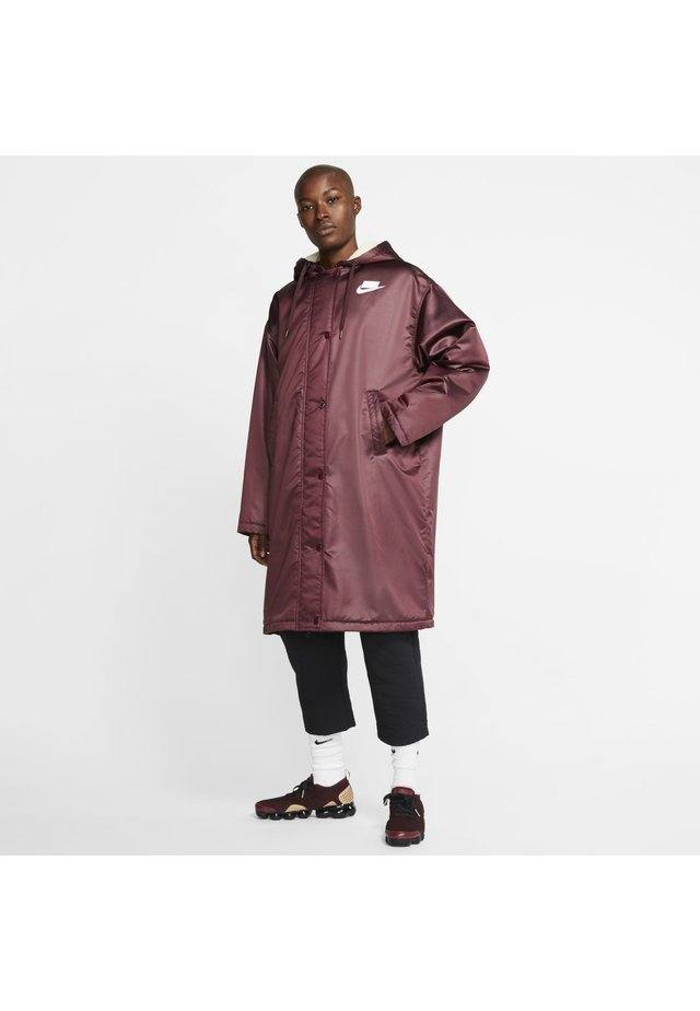Waterproof jacket - night maroon/muslin/white