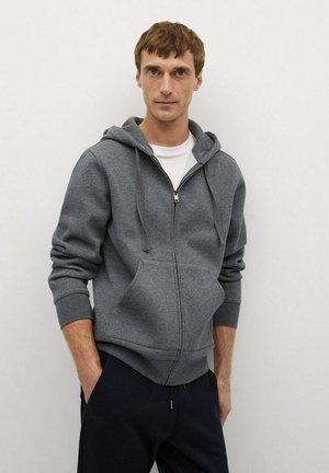 BADY - Zip-up hoodie - dunkelgrau meliert