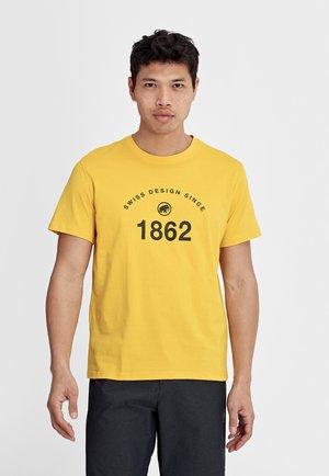 SEILE - Print T-shirt - bent gate, basalt