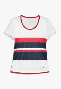 Fila - SAMIRA GIRLS - Print T-shirt - white/peacoat blue/fila red - 0
