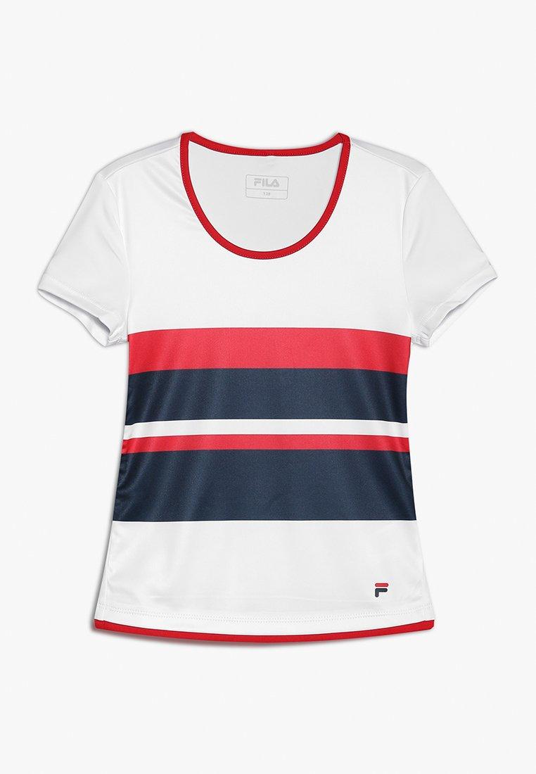 Fila - SAMIRA GIRLS - Print T-shirt - white/peacoat blue/fila red