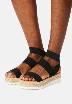 BREE - Sandały na platformie - black