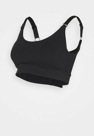 MATERNITY WIREFREE CROP - Topp - black