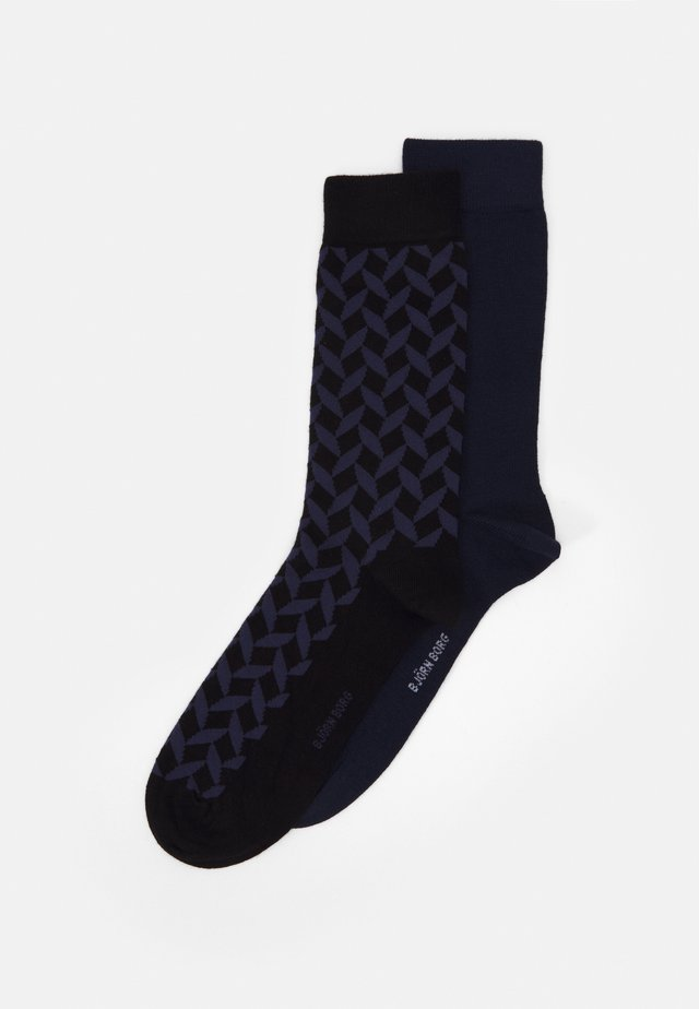 SQUARE ANKLE SOCK 2 PACK - Sokken - crown blue