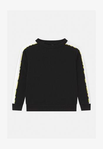 COLOR BLOCK CREWNECK UNISEX - Sweatshirt - black