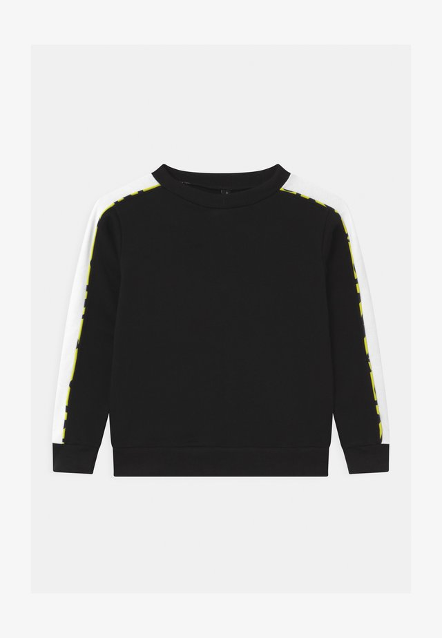 COLOR BLOCK CREWNECK UNISEX - Sudadera - black