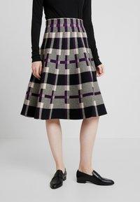Derhy - OBERKAMPF - A-line skirt - black/purple - 0