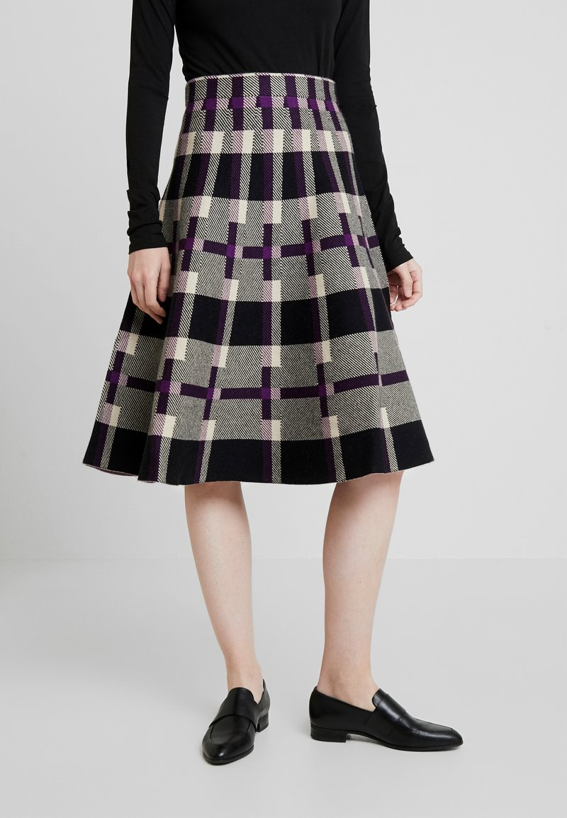 Derhy - OBERKAMPF - A-line skirt - black/purple