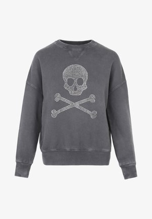 WITH SKULL LOGO AND STUDS - Sweater - grey