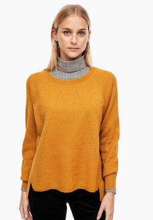 AUS GLITZER-STRUKTURSTRICK - Jumper - yellow knit