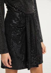 myMo at night - Mini skirt - silber schwarz - 3