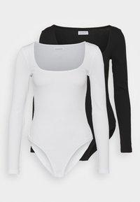 Even&Odd - 2 PACK - Long sleeved top - black/white - 5