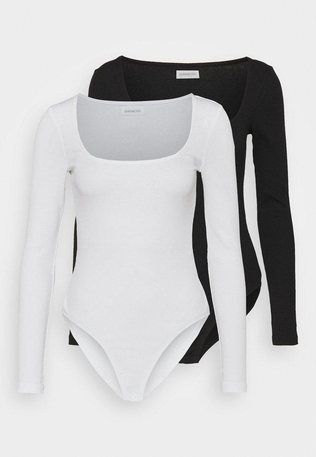 2 PACK - Top sdlouhým rukávem - black/white