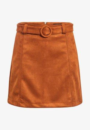 Jupe trapèze - marron clair