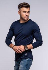 Jack & Jones - INFINITY  - Long sleeved top - navy blazer - 3