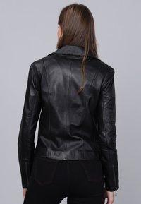 Basics and More - Læderjakker - black - 1