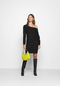 Missguided - AYVAN OFF SHOULDER JUMPER DRESS - Jumper dress - black - 1