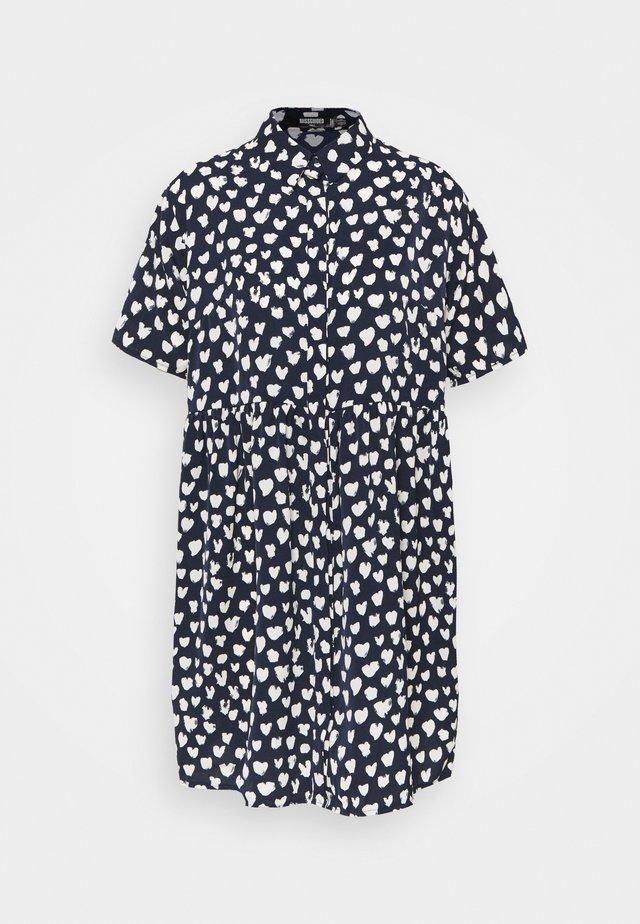 SMOCK DRESS DALMATIAN - Košilové šaty - navy