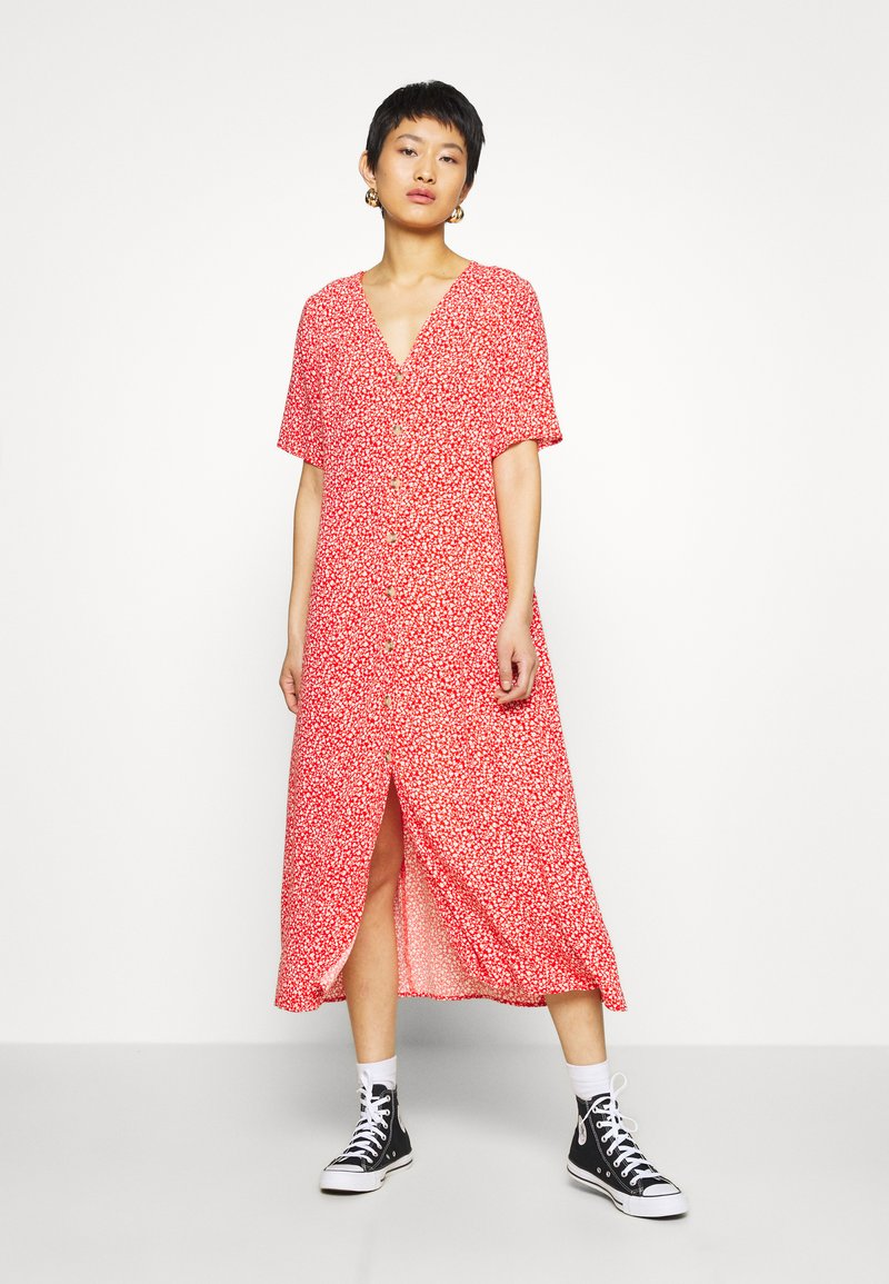 Monki - SILENA DRESS - Skjortekjole - red