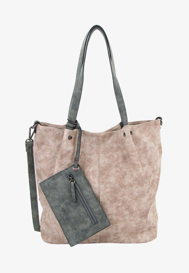 SURPRISE - Shopping Bag - mottled brown