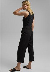 Esprit Collection - MIT BINDEGÜRTEL - Trousers - black - 2
