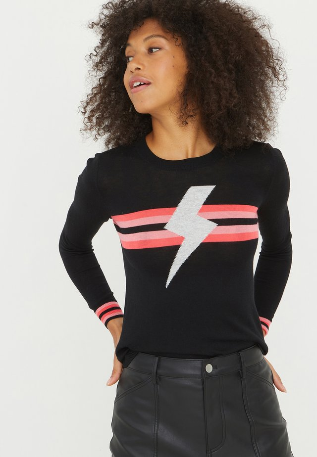 LIGHTNING BOLT - Neule - black