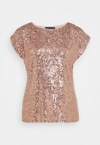Dorothy Perkins - SEQUIN TEE - Print T-shirt - rose gold - 3
