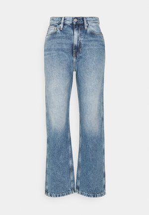 HIGH RISE STRAIGHT ANKLE - Bootcut jeans - denim light