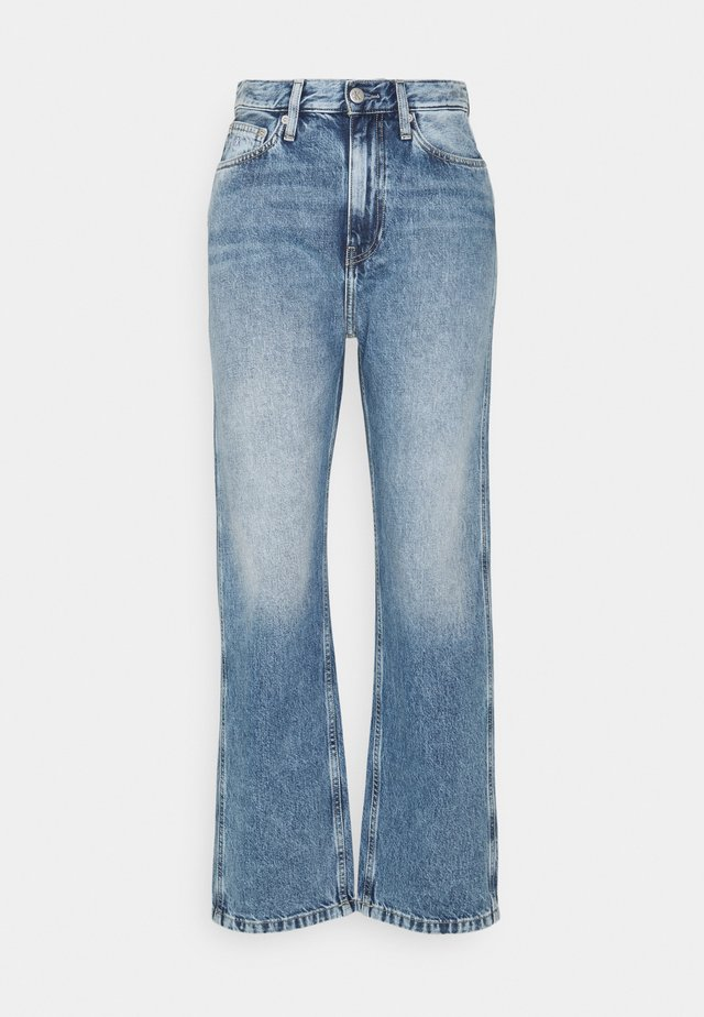 HIGH RISE STRAIGHT ANKLE - Jeans bootcut - denim light