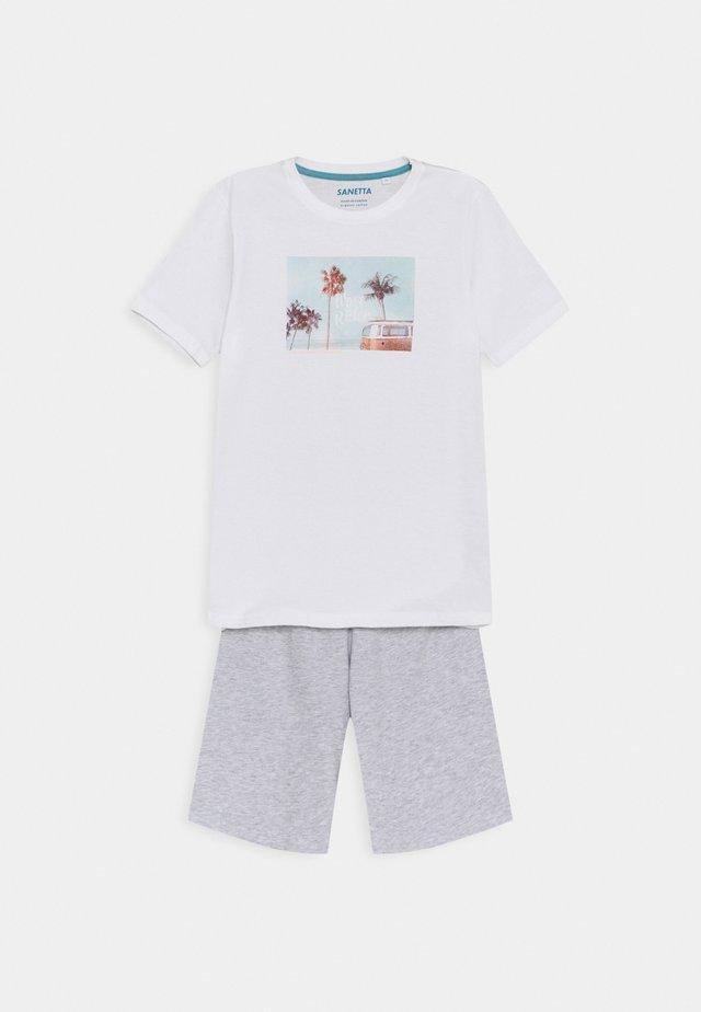 TEENS SCHLAFANZUG KURZ UNISEX - Pyjama - white pebble