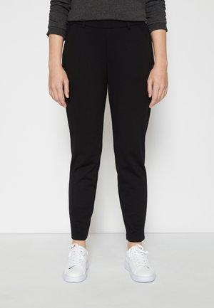 CONSTRUCTED PANTS - Chinos - deep black