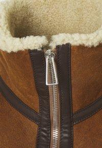 PS Paul Smith - JACKET - Veste en cuir - brown - 3