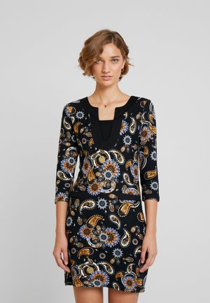 Day dress - black/mustard