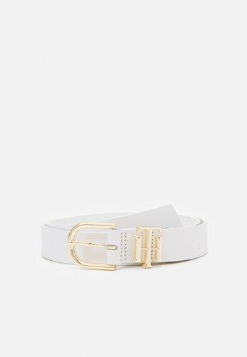 LUX LOGO - Belt - white