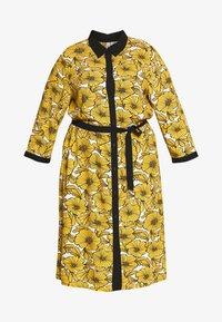 Ciso - DRESS WITH FLOWER PRINT - Skjortklänning - cheddar yellow - 4
