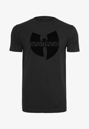 WU-WEAR BLACK LOGO - Print T-shirt - black