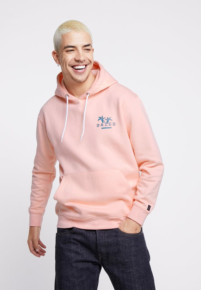 UNISEX BACK PRINTED SLOGAN DREAM HOODIE - Huppari - pink