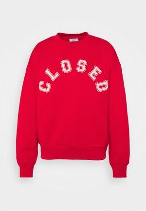 CREW NECK WITH LOGO - Sweatshirt - red