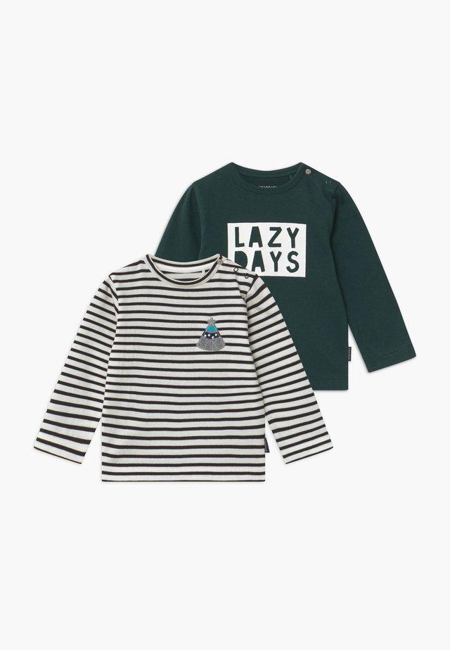 2 PACK - Pitkähihainen paita - off-white/dark green