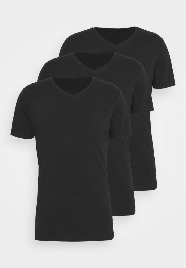 ONSBASIC LIFE 3 PACK - Basic T-shirt - black